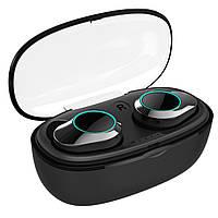 Беспроводные наушники Bluetooth гарнитура KUMI T5S Black IPX7 Блютуз 5.0 с зарядным кейсом (3804-10628)