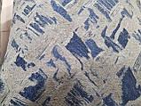 Комплект подушек беж с темно синим узором 2шт, фото 3
