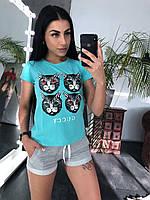 Женская футболка Кошки, фото 1