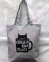 Эко сумка шоппер женская молодежная из текстиля (хлопок), фото 1