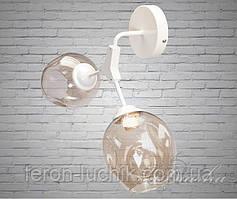 Светильник настенно потолочный (бра) 882-2 Молекула на 2 лампы Белый