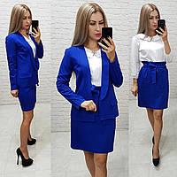 Комплект-двойка юбка  и  пиджак  , цвет электрик, фото 1