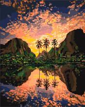 Картина по номерам Багряная лагуна
