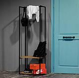 """Вешалка рейл """"Шоурум 10"""" в стиле Лофт 1600х600х400, фото 3"""