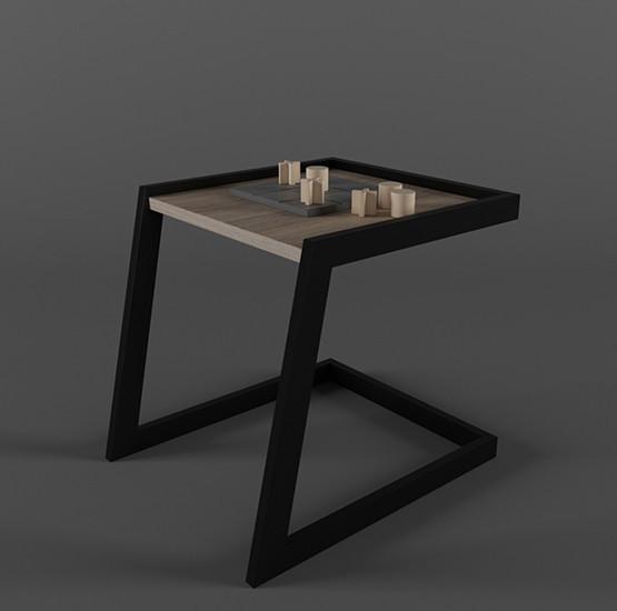 Столик журнальный кофейный в стиле Лофт 500х400х450