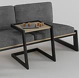 Столик журнальный кофейный в стиле Лофт 500х400х450, фото 3