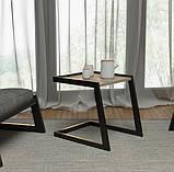 Столик журнальный кофейный в стиле Лофт 500х400х450, фото 6