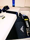 """Подарочный мужской набор """"Заботливый"""" от ROYAL PLAY (носки Армани 4 пары,набор для бритья Арко мен), фото 4"""