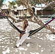 Пляжный белый халат на завязках, фото 2
