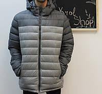 Куртка мужская зимняя теплая серебрянная с капюшоном Zerofrozen полиэстер 56