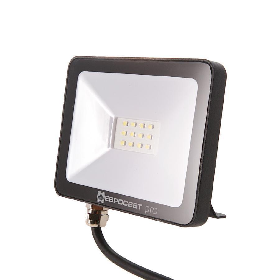 Прожектор светодиодный ЕВРОСВЕТ 10Вт 6400К EV-10-504 PRO-XL 900Лм