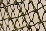 Ячея 45 мм   Капроновая узловая дель, нитка 187 tex*3 (1,2 мм.) Ширина 90 ячеек. Сетка капроновая., фото 4