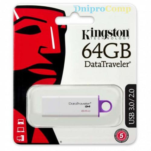 USB флеш накопичувач Kingston 64Gb DataTraveler Generation 4 (DTIG4/64GB)