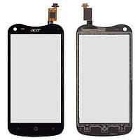 Touchscreen (сенсорный экран) для Acer V370 Liquid E2 Duo, оригинал (черный)