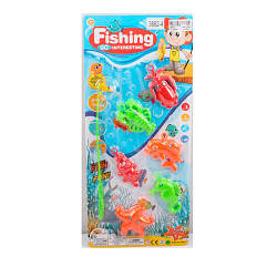 Рыбалка 3882-4 (180шт) 19см, морские обитатели5шт, на листе, 19-42,5-2см