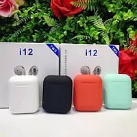 Наушники Bluetooth беспроводные TWS i12 ОПТ, Дроп, фото 1