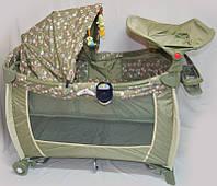 Манеж-кроватка Sigma F-E-W (синий коричневый)