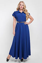 Элегантное длинное платье Алена цвета деним 48 р