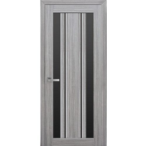 Дверное полотно Верона С2 стекло BLK (черное) жемчуг серебряный