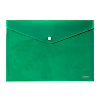 "Папка на кнопці А4 ""Axent""непрозора зелена 1412-25-А"