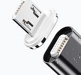 ROCK магнитный кабель micro usb быстрая зарядка 3А для Android Samsung Xiaomi Цвет красный, фото 3