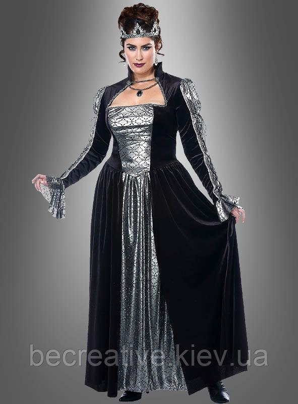 Женский карнавальный костюм королевы XXL