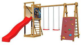 Дитячий спортивний дерев'яний майданчик SportBaby-6, розмір 2.4х 3.6 х 4 м