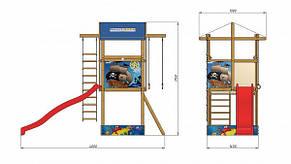 Детская спортивная деревянная площадка SportBaby-7, размер 3.15х 4 х 1.45 м, фото 2
