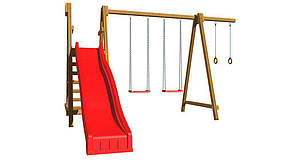 Дитячий спортивний дерев'яний майданчик SportBaby-3, розмір 2.2х 3.6 х 3.3 м