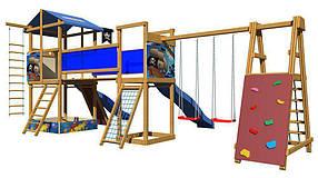 Дитячий спортивний дерев'яний майданчик SportBaby-12, розмір 3.15х 4 х 8.7 м
