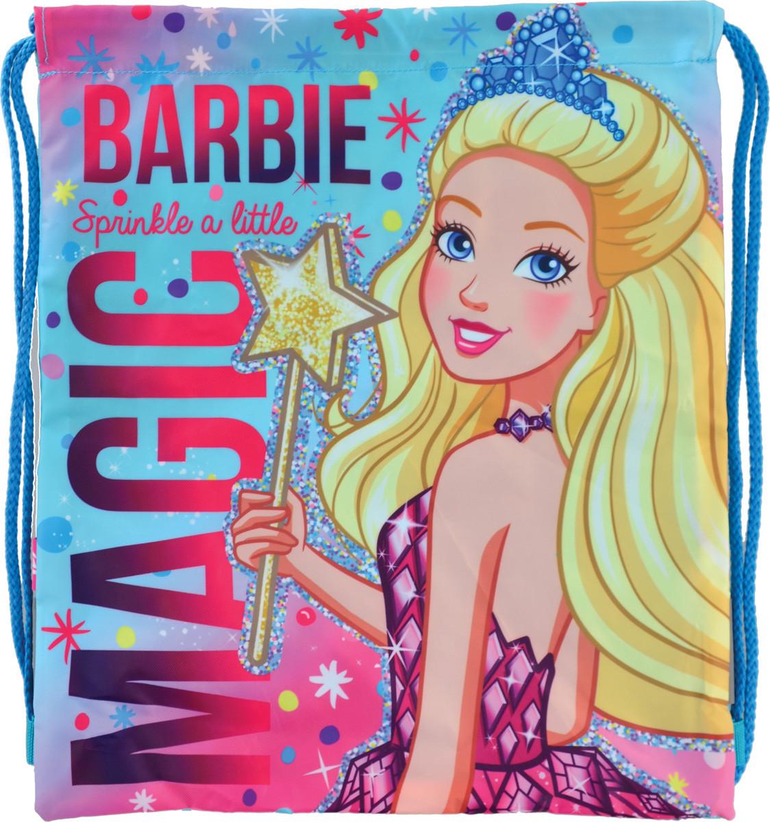 """Сумка дитяча  для взуття """"1 Вересня"""" з карманом SB-10 Barbie 556247"""