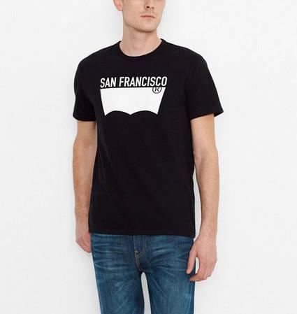Мужская футболка Levis Sf City Tee - Black (XL)
