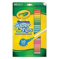 Фломастеры смываемые Super Tips Washable 50 цветов, Crayola (Крайола)
