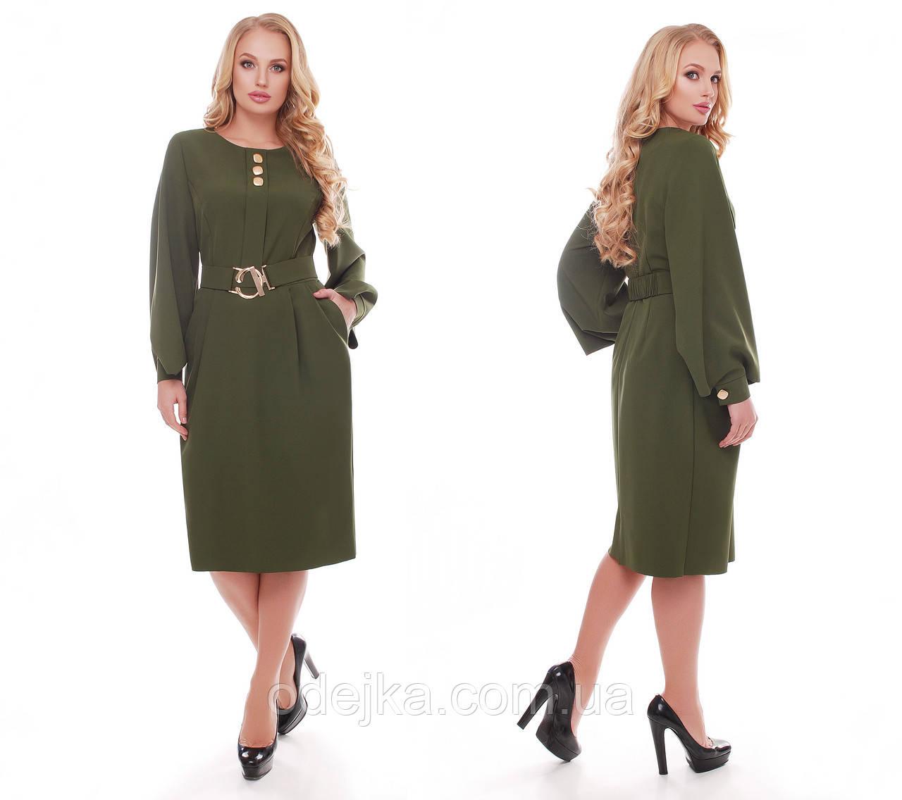 Стильне плаття жіноче Катерина оливкового кольору