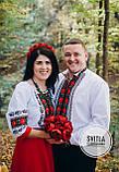 """Красивий комплект для парі сукня та сорочка """"Борщівська троянда"""", фото 2"""