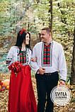 """Красивий комплект для парі сукня та сорочка """"Борщівська троянда"""", фото 3"""