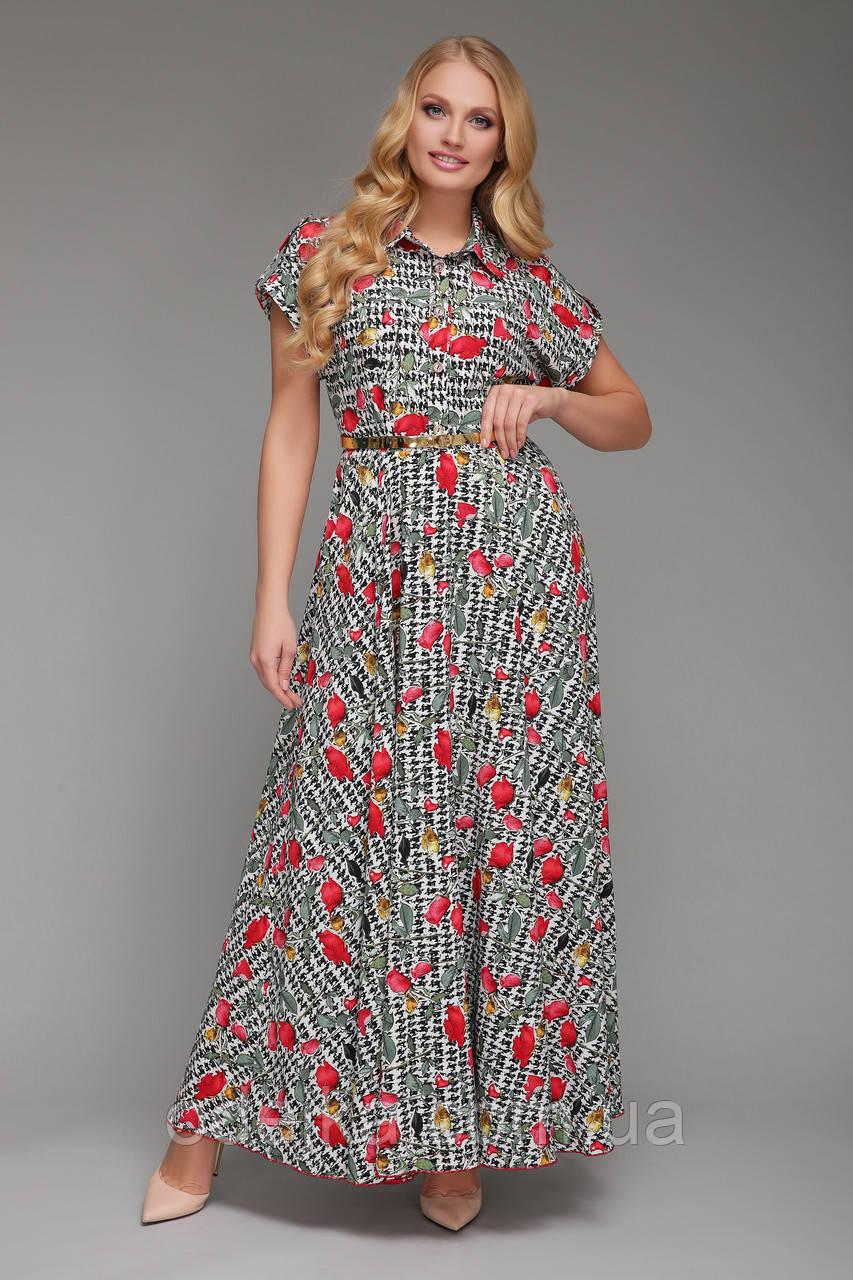 Плаття довге Олена Троянди
