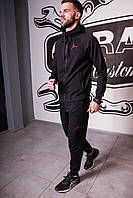 Спортивный костюм мужской весенний черный в стиле Nike Jordan. Кофта + штаны. Спортивний костюм чоловічий