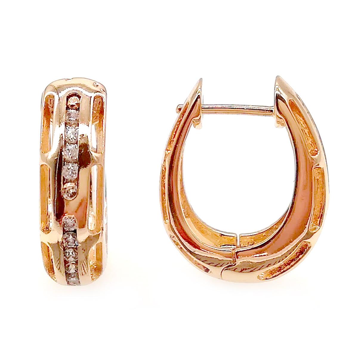 Серьги Xuping из медицинского золота, белые фианиты, позолота 18К, ХР00253 (1)