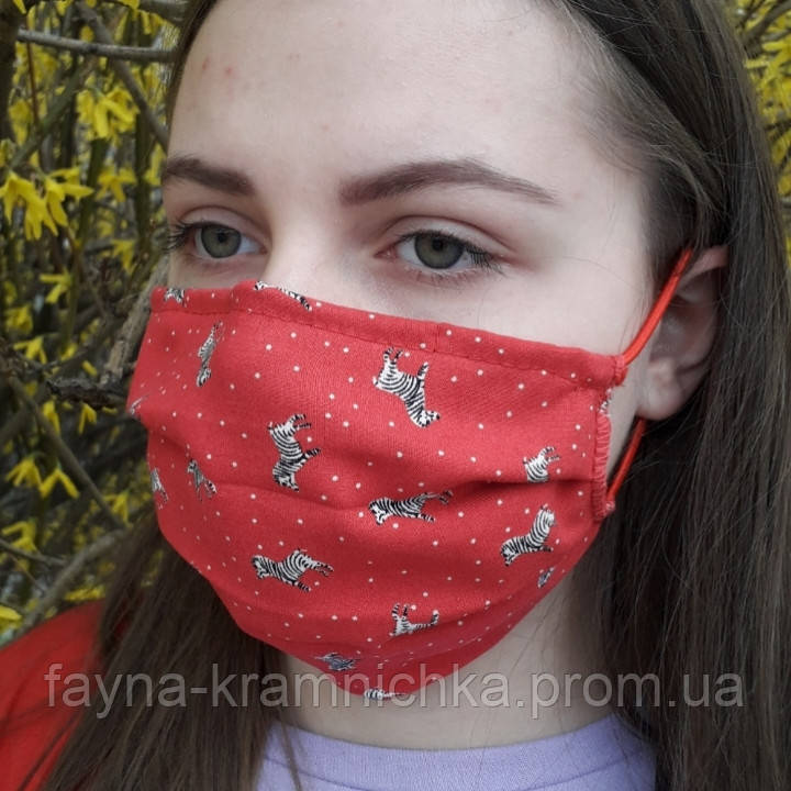 Маска тканевая 2 слоя / Маска на лицо из ткани / Респиратор / Хлопковая маска / Маска цветная/Маска-респиратор
