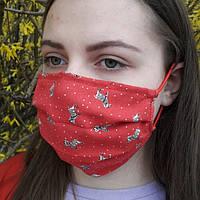 Маска тканевая 2 слоя / Маска на лицо из ткани / Респиратор / Хлопковая маска / Маска цветная/Маска-респиратор, фото 1
