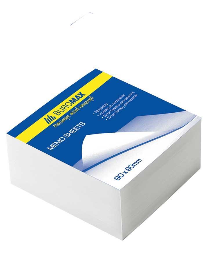 Блок білого паперу для нотаток 80*80*30мм., не скл. /30/