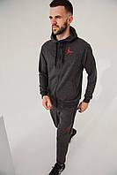 Спортивный костюм мужской весенний серый в стиле Nike Jordan. Кофта + штаны. Спортивний костюм чоловічий