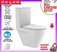 Унитаз-компакт безободковый Devit Laguna 3010110 с сиденьем soft-close
