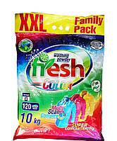 """Порошок стиральный для цветного """"Fresh"""" 10 кг (120 стирок)"""