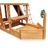 Дитячий спортивний дерев'яний майданчик Babyland-13, розмір 6,5х7,5 х 3,1м, фото 3
