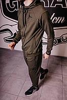 Спортивный костюм мужской весенний хаки в стиле Nike Jordan. Кофта + штаны. Спортивний костюм чоловічий