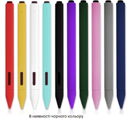 Мягкий силиконовый чехол для стилуса, сенсорной ручки Surface black