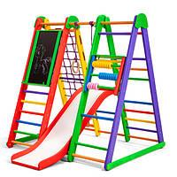 Детская спортивная деревянная игровая площадка. Детский спортивный уголок «Эверест-2»