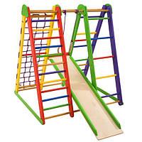 Детская спортивная деревянная игровая площадка. Детский спортивный уголок «Эверест-3»